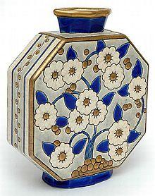 Vase émaux de Longwy période Art déco