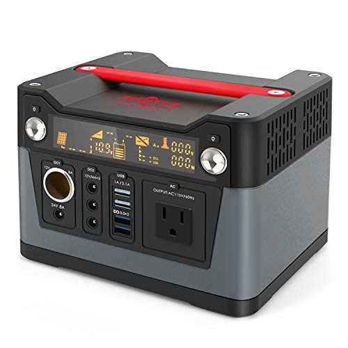 Rockpals 300w Portable Generator Lithium Portable Power Station 75000mah Cpap Backup Battery Pack Power Supply Wit Solar Generator Portable Power Solar Panels