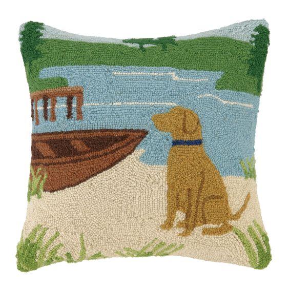Golden Lab Shore Pillow