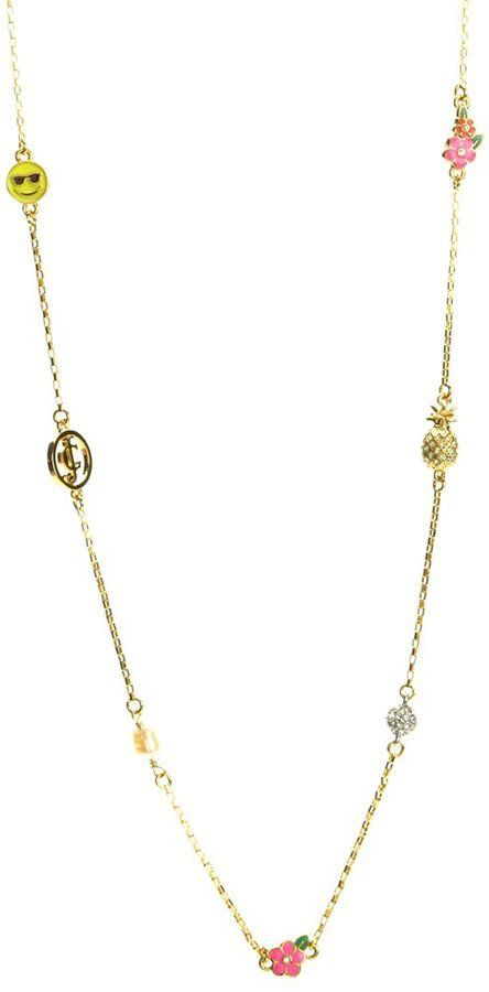 Pin for Later: Upgrade Your Jewellery Box With This Emoji Bling  Juicy Couture Long Charm Necklace (£64)