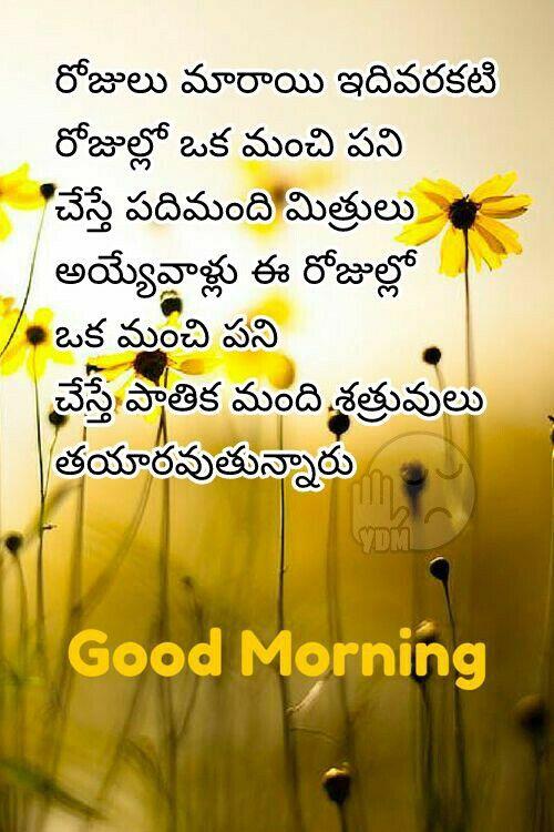Good Morning Good Morning Quotes Morning Quotes Telugu