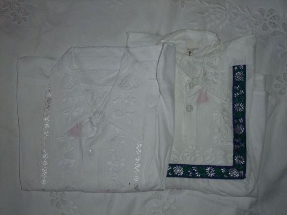 White boys shirt / fehérrel hímzett kisfiú paraszting