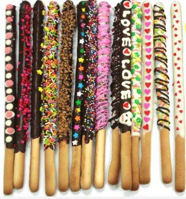 Palitos de pan con chocolate.  I ♥ #Dialhogar  http://pinterest.com/dialhogar/  ❥ http://dialhogar.blogspot.com.es/
