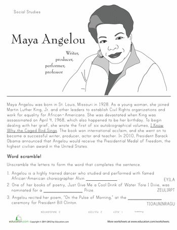 Printables Second Grade History Worksheets maya angelou the ojays and children on pinterest worksheets historical heroes 2nd grade