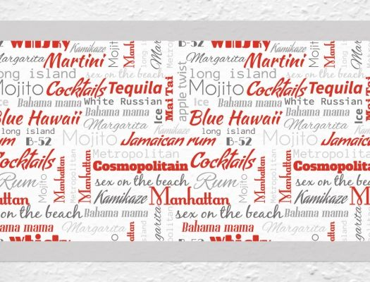 Beliebte Cocktails als Bordüre