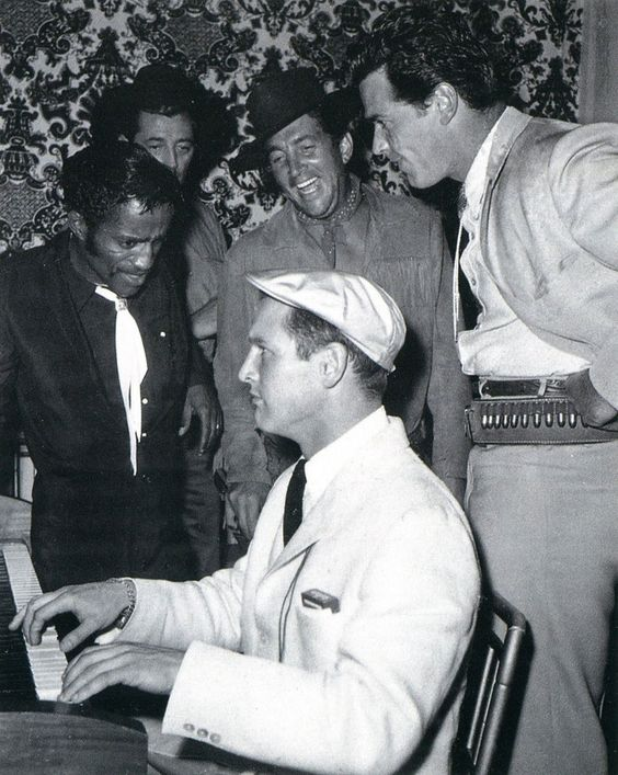 Maybe the coolest collection of people ever. Paul Newman, Sammy Davis Jr, Dean Martin, Robert Mitchum and James Garner: