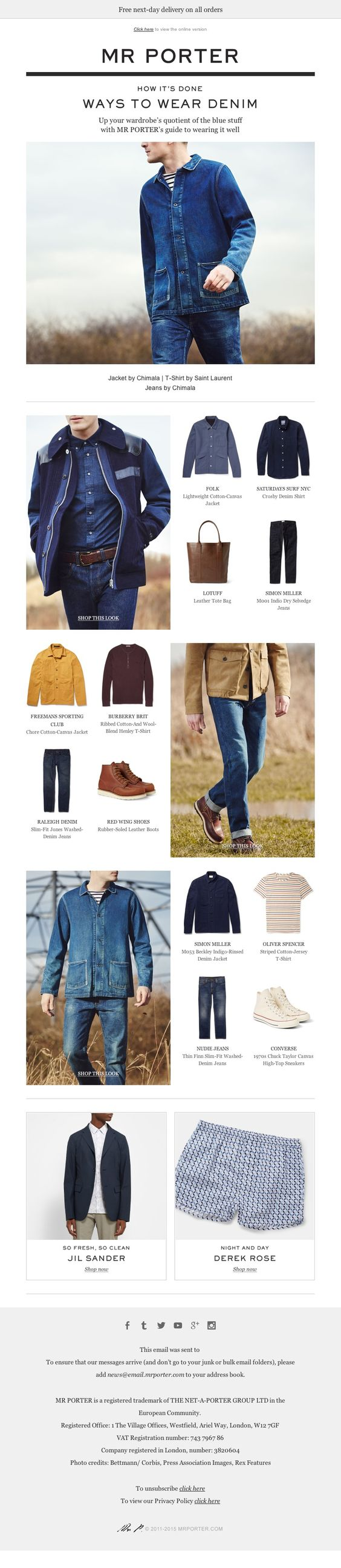 MR PORTER - Calling all twill seekers… newsletter emailing email