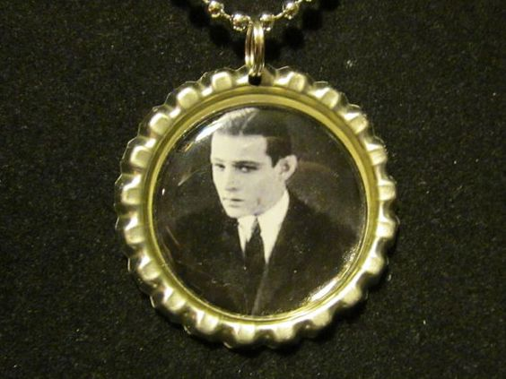 Rudolph Valentino Bottle Cap Necklace or Key by AdAstraEmporium, $6.00