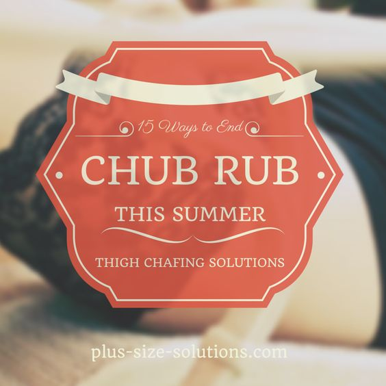Tips to prevent the dreaded summer chub rub, or treat thigh chafing pain if it's already too late. #plussize