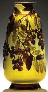 Galle Vase with Mountain Laurel Design