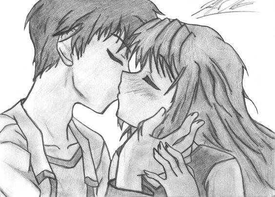 Dibujos Anime Amor, Dibujos De Amor A Lapiz, El Anime, Animes Faboritos, Pretendo Dibujarlos, Quiero Dibujar, Dibujar Buscar, Dibujitos, Novios