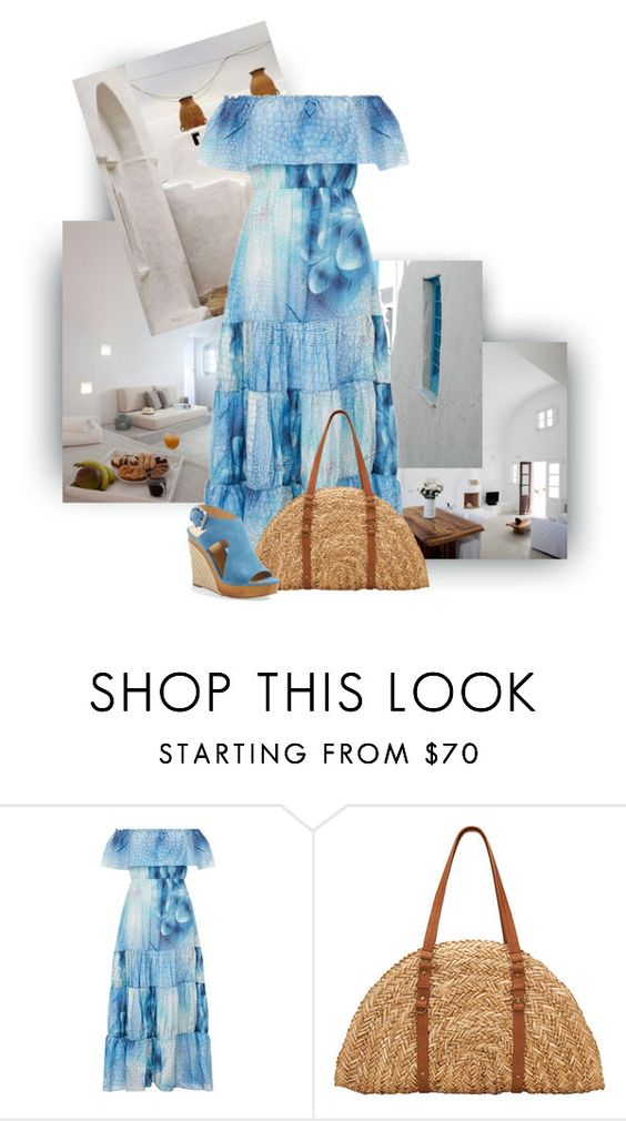 """""""Greek Summer"""" by thaliatria ❤ liked on Polyvore featuring Athena Procopiou, San Diego Hat Co. and MICHAEL Michael Kors"""