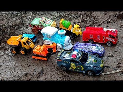 Mobil Polisi Kereta Api Mobil Balap Truk Gandeng Excavator Mobil Offroad Tayo Mobil Pemadam Episode8 Youtube Di 2021 Mobil Polisi Mobil Balap Mobil