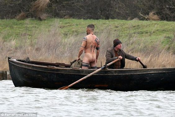 One last breath: The actor stood up to his full height in the boat, showing off his hulkin...