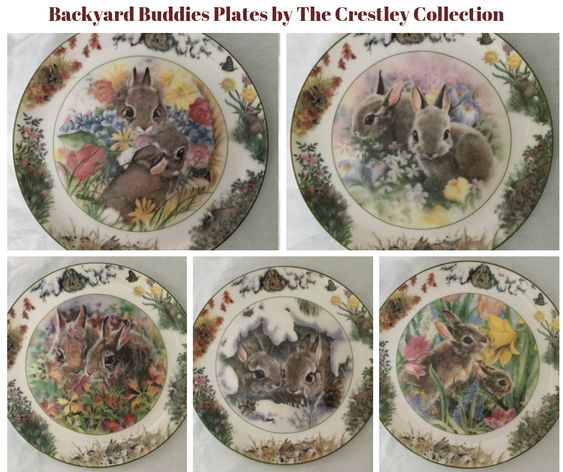 Backyard Buddies Plates by The Crestley Collection