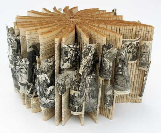 Altered Book is just one of many discarded or damaged books made into fantastic sculptures at Books and Jackets