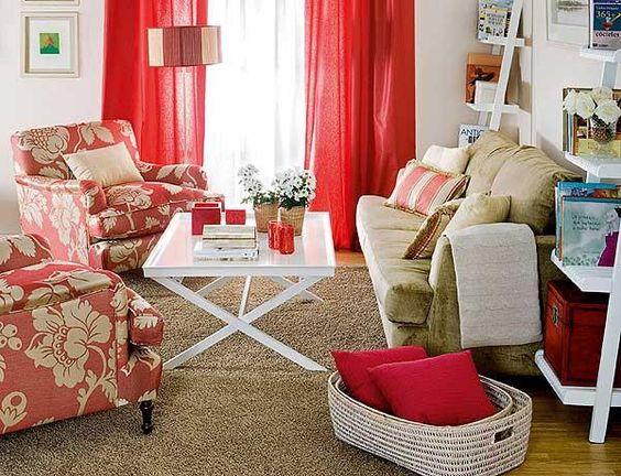 Salas pequenas decoradas ~ decoração e ideias