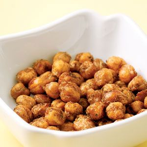 "Spiced Chickpea ""Nuts"" - low fat, full of fiber and protein."
