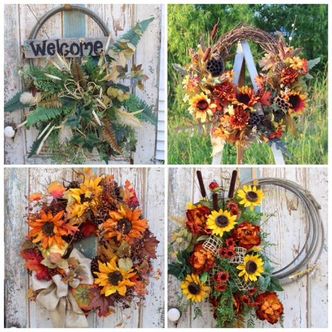 Fall and Western Lariat Rope Wreaths