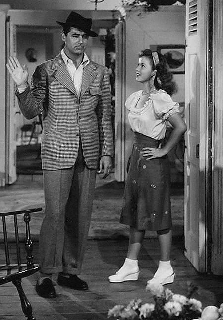 Cary Grant & Shirley Temple in theThe Bachelor and the Bobby-Soxer, 1947... Mellow greetings, yukey dukey!