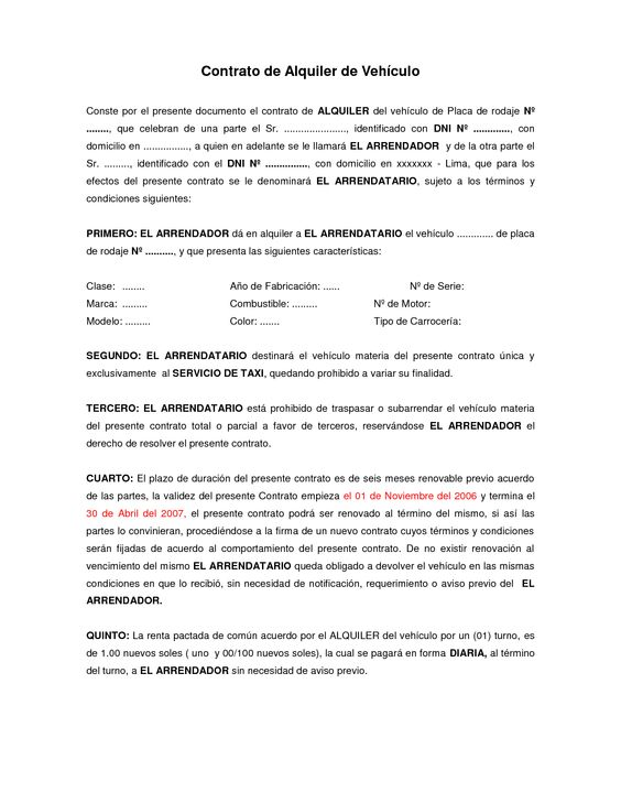 Arrendamiento de vehiculos contrato comtrato de arrendamiento de - sample reseller agreement