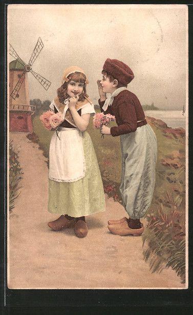 Künstler-AK Meissner & Buch (M&B) Nr. 1437: Ein glückliches Paar…