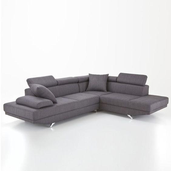 Canapé d'angle design, têtières relevables, Walsal La Redoute Interieurs   La Redoute Mobile