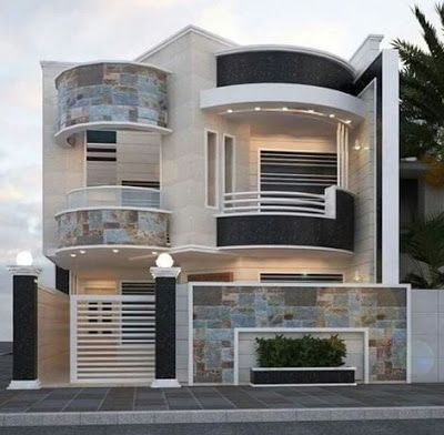modern house front design ideas exterior wall decoration ... on front of house storage, front of house trees, front of house landscaping, front of house awards, front of house signs, front of house decor, front of house lighting,