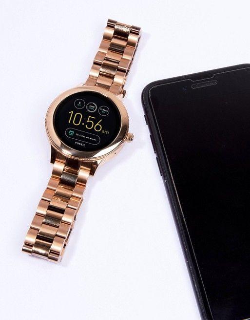 Fossil Q Ftw6000 Venture Bracelet Smart Watch In Rose Gold At Asos Com Bracelets For Men Smart Watch Watches For Men