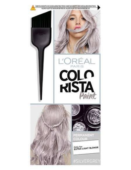 درجات لون صبغة رمادي غامق اشقر و بلاتيني الانواع و طريقة الصبغ صبغة رمادي صبغة لوريال Platinumblonde Platinumb Grey Hair Dye Colorista Hair Dye Dyed Hair