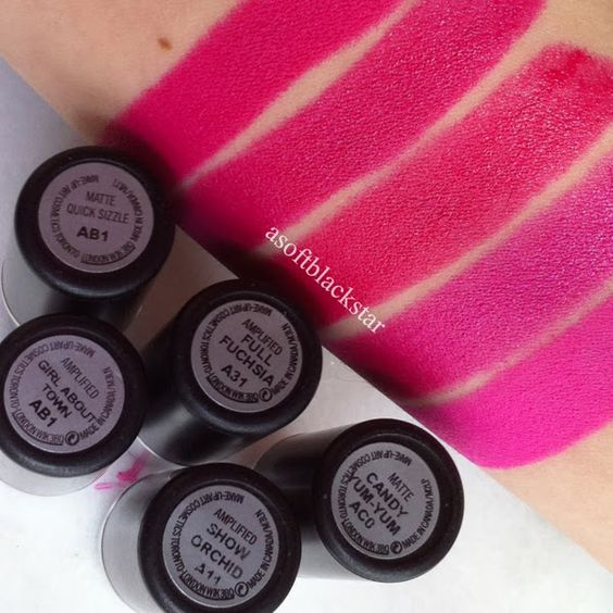 5 Bright Pink MAC Lipsticks, Comparison and Swatches - asoftblackstar