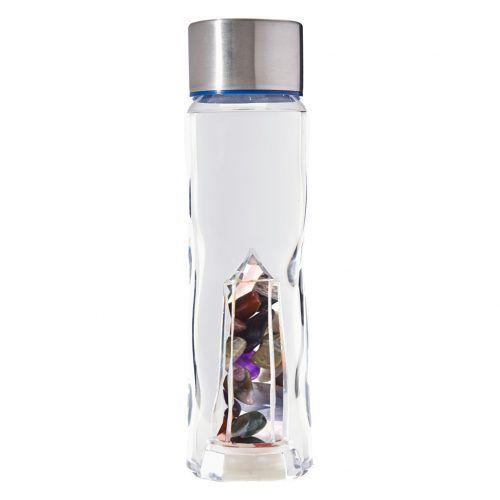 Crystal Wand Water Bottle Natural Rose Amethyst Clear Quartz Crystal Water Bottle Crystal Water Bottle Benefits Crystal W Diy Crystals Diy Water Bottle Bottle