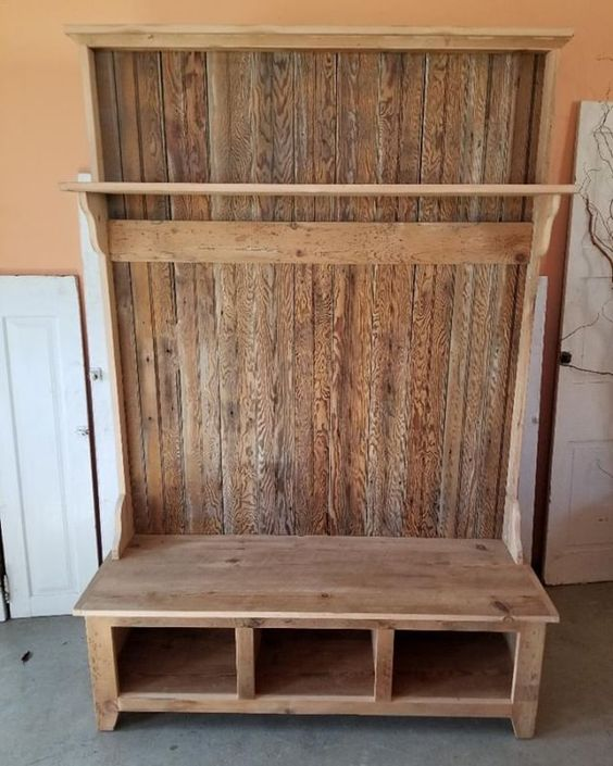 Now That Cold Weather Has Arrived What Better Time Then To Purchase A Halltree To Store All That Extra Winter Gear We Barn Wood Reclaimed Barn Wood Old Barn
