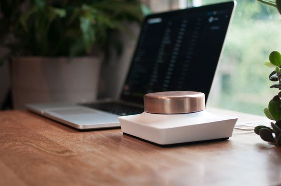 Connect your laptop or phone to any speakers with this amplifier. Either via audio cable or Bluetooth.