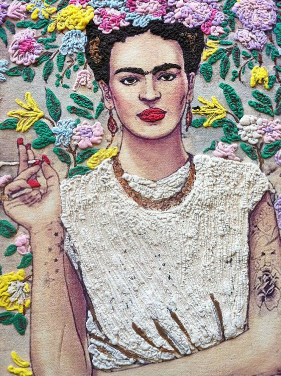 . Why my Frida Kahlo painting tshirt? My Frida Kahlo t-shirt is art out of frame, wearable art for every day *CLICK ON THE PHOTO for a closer look I look for and choose by myself every pictures, I edi