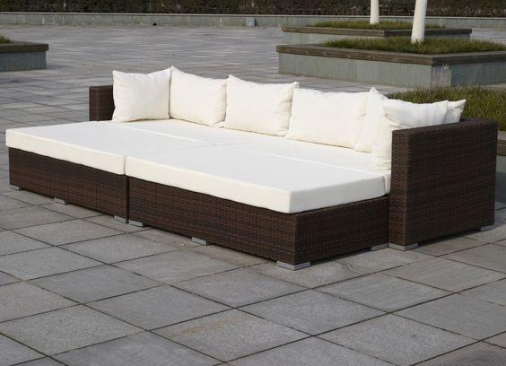 artelia - rattan sonneninsel im lounge stil für garten und, Garten und Bauen
