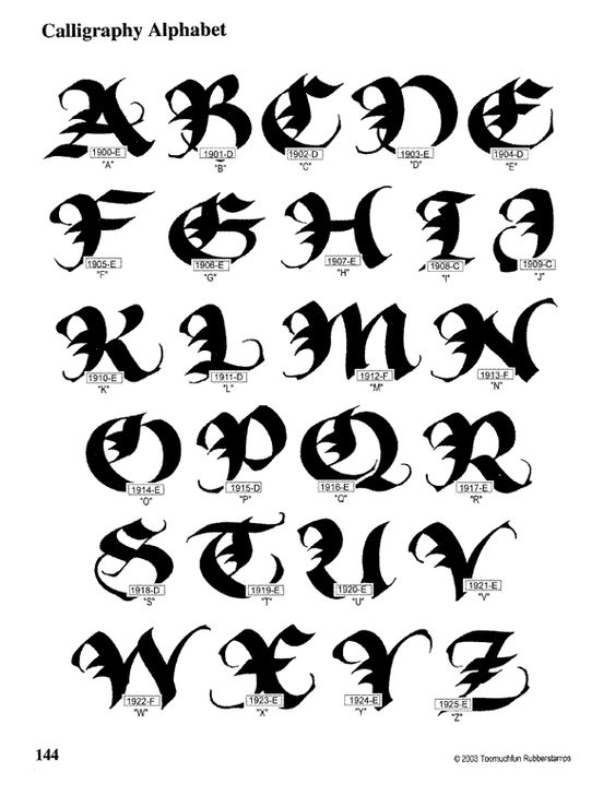 See How To Do The Alphabet Written In Calligraphy In No
