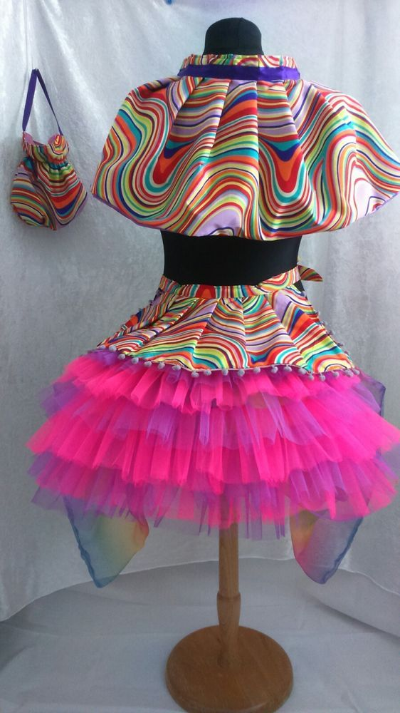 Burlesque bustle Moulin Rouge Can Can Tutu gay pride rainbow unicorn fancydress