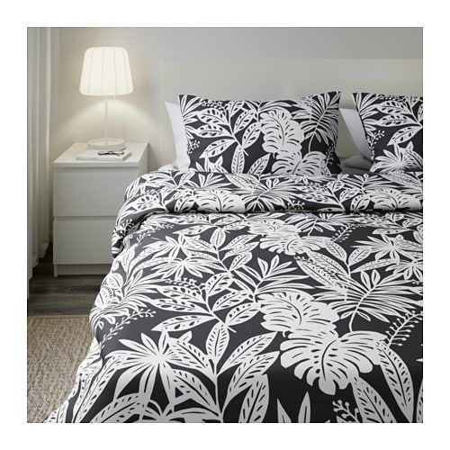 Fagerginst Quilt Cover And 2 Pillowcases Grey White 200x200 50x80 Cm Quilt Cover Duvet Cover Sets Duvet Covers