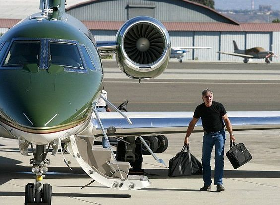 Harrison Ford and his private jet
