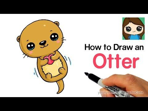 3 How To Draw An Otter Easy And Cute Youtube Cute Drawings Otters Kawaii Drawings
