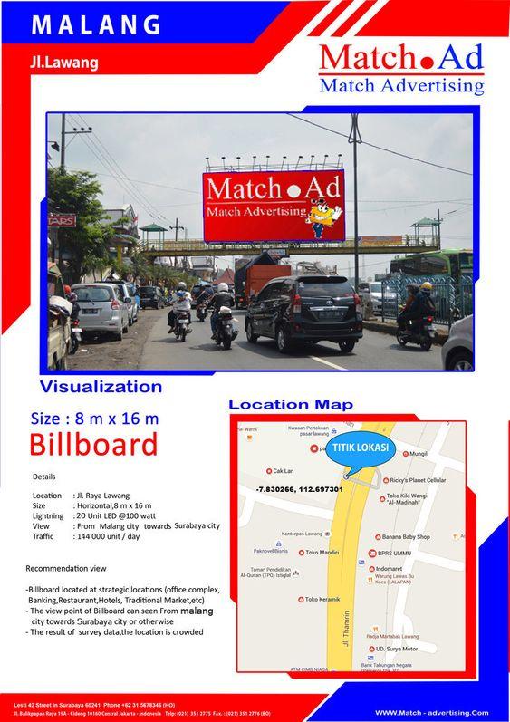Malang - Billboard 8x16, Jl. Raya Lawang (Malang > Surabaya)