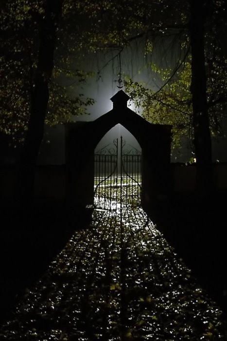 Cemetery gate: