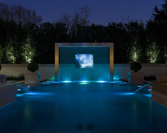 Pool | This creative use of a pool adds many flourishes, creating an amazing swimming experience with many great touches that will impress guests