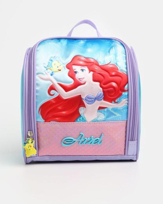 3 Em 1 Mochila Escolar C Rodinha E Costas Princesa Ariel