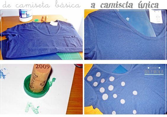 Las Creaciones de Bea y Natalia: Camiseta DIY: lunares con lejía