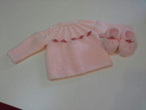 Hola, buenos días. Hos presentamos un conjunto de bebé para estos frios días de invierno. Esperamos que hos guste.