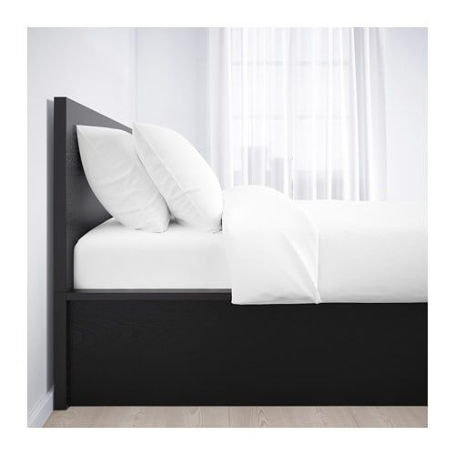 Ikea Malm Black Brown Storage Bed Black Bedding Ottoman Bed Bed Linen Design