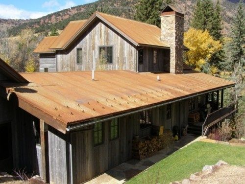 Coreten Metal Siding | Rusted Metal Roof Looking Fabulous With A Weathered  Barn Wood House | Exteriors | Pinterest | Metal Siding, Rusted Metal And  Metal ...