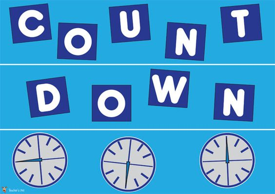 Teacher's Pet Displays » Countdown Display Pack » FREE downloadable EYFS, KS1, KS2 classroom display and teaching aid resources » A Sparklebox alternative